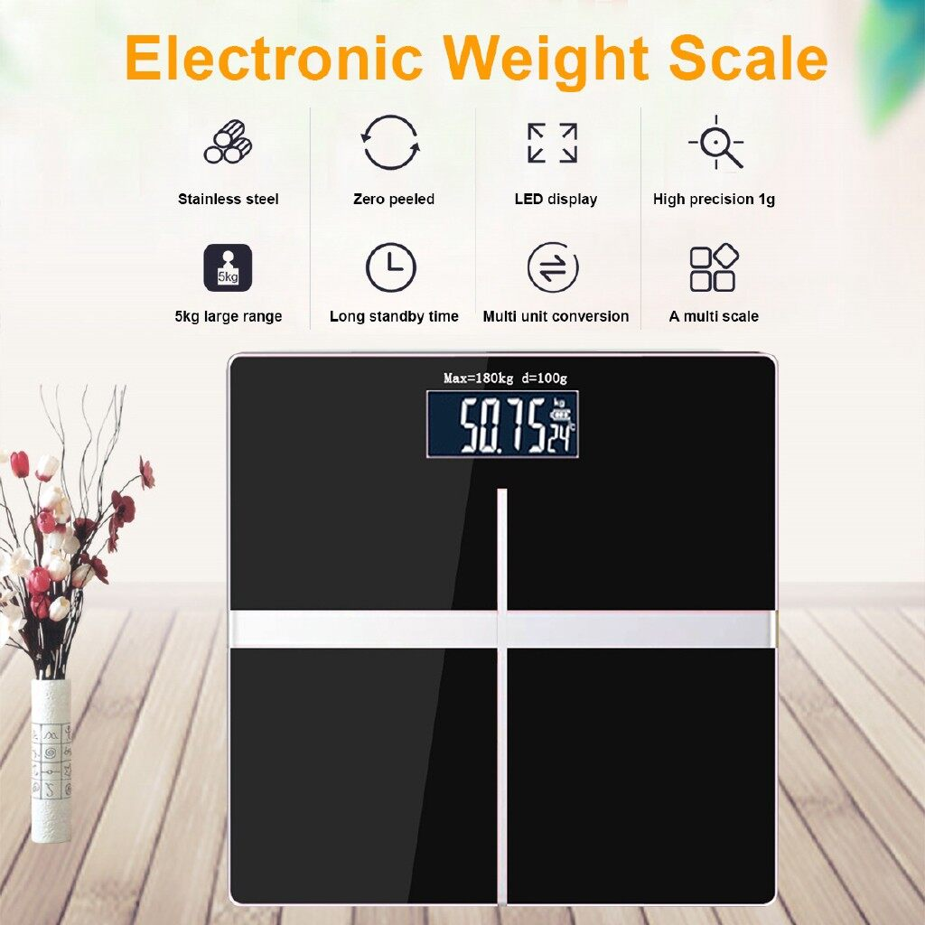 Camera Accessories - 330Lb 150KG LCD Digital Electronic Glass Gram Weighing Balance Body Weight Scale - Cameras & Drones