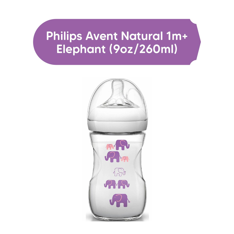 Philips Avent Natural 1m+ Flexible Spiral design Skin-Soft teat (9oz/260ml) Original