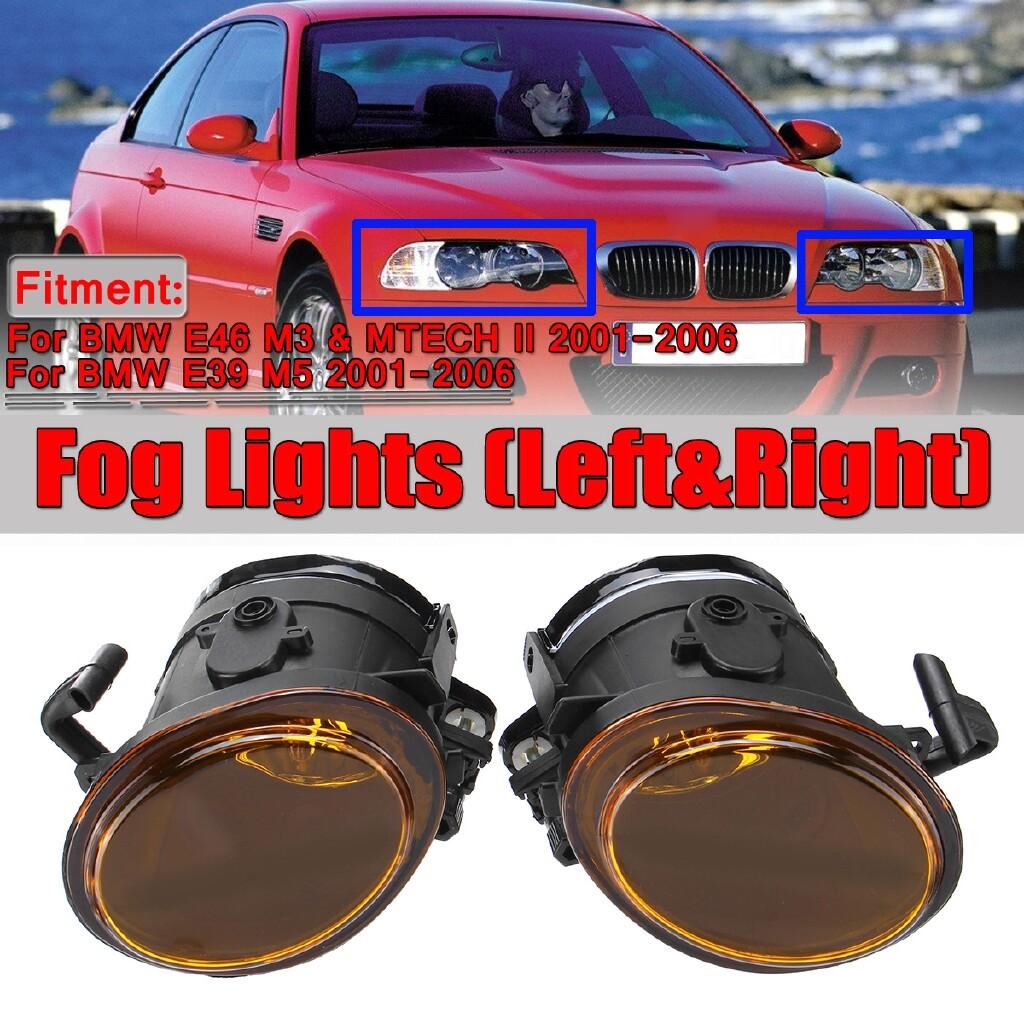 Car Lights - For BMW E46 M3 M Sport Mtech II E39 M5 2001-2006 Fog Light Foglamp Left + Right - Replacement Parts