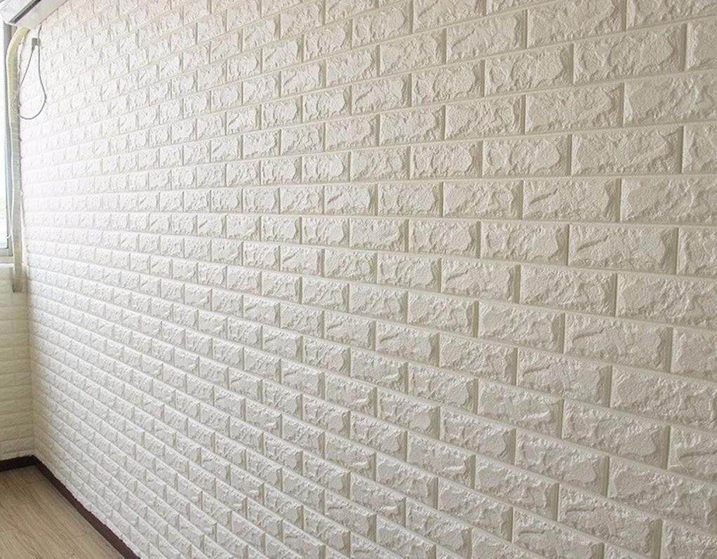 8.8 Atmua 70x77cm PE Foam 3D Wall Stickers Safety Home Decor Wallpaper DIY Wall Decor Brick Living Room Kids Bedroom Decorative Sticker