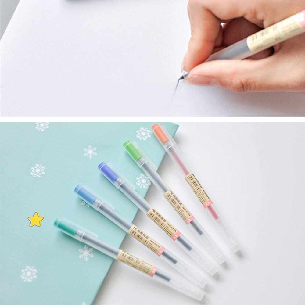 12pcs/set Gel Pen 0.5mm Pen Lead Colored Gel Ink Pens Comfort Grip for Drawing Painting Writing Coloring Books Art Project Office School Supplies (Standard)