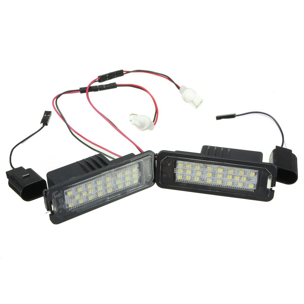 Engine Parts - 2x 24 LED White License Number Plate Light Canbus For VW Passat Golf GTI MK5 MK6 - Car Replacement