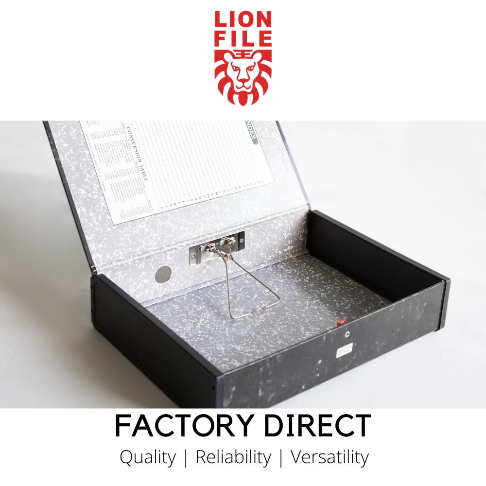 "LION FILE 3"" F4 Box File (10pcs/ctn)"