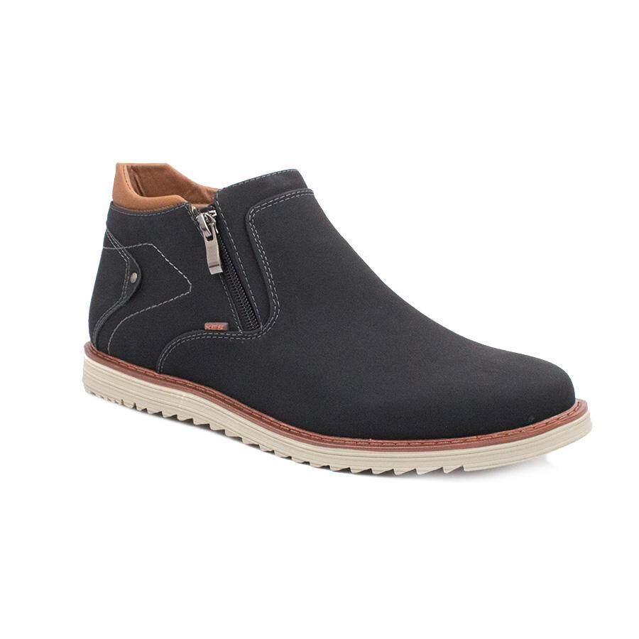 XES Men MC1019-3 High-top Casual Sneakers (Black/Brown)