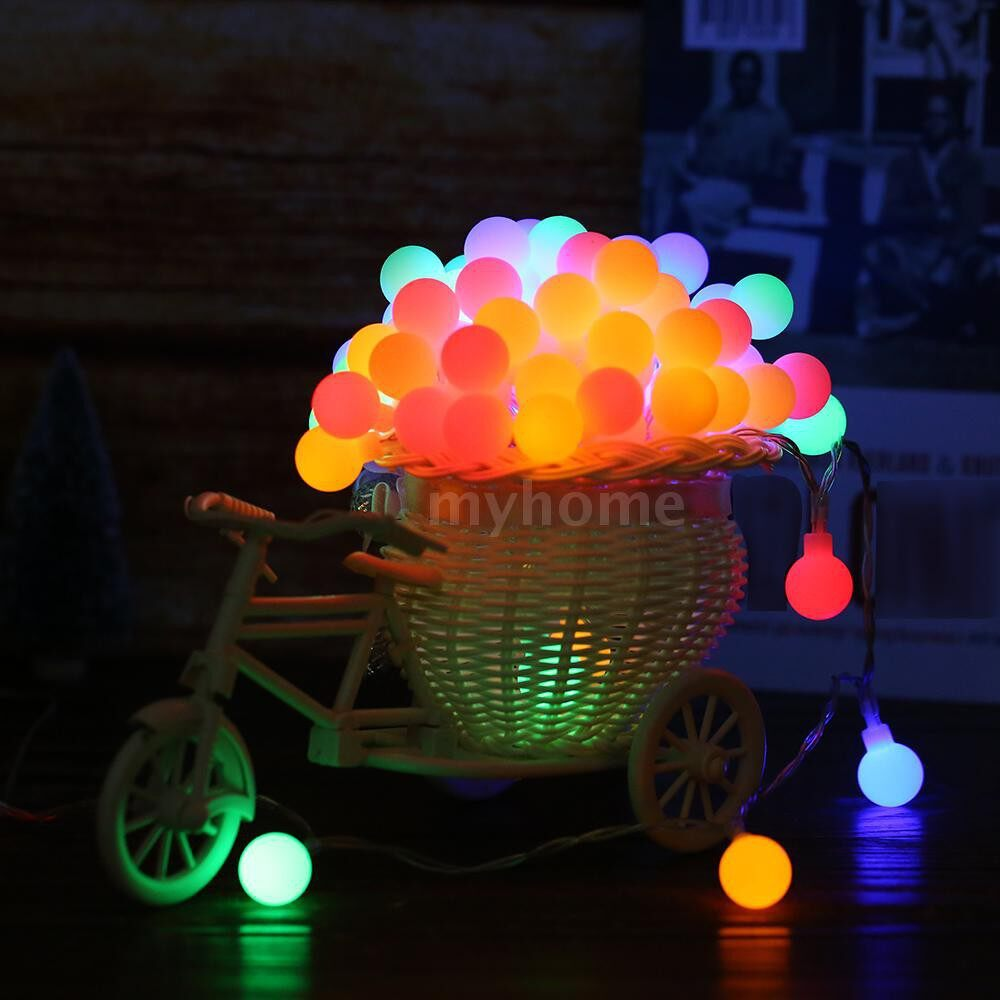 Lighting - 0.6W 10M/32.8Ft 80LED String Light with Remote Control Multi-colored Battery Powered - MULTICOLOR