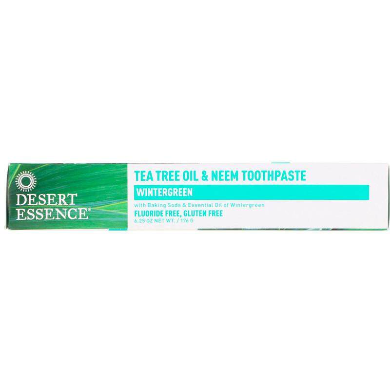 Desert Essence, Tea Tree Oil & Neem Toothpaste, Wintergreen (176 g)