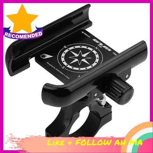 Best Selling Aluminum Bike Phone Holder 360 Degree Rotating Adjustable Anti Slip Cycling Bicycle Motorcycle Handlebar Phone Mount Holder Stand (Black)
