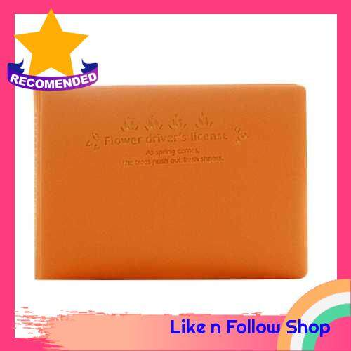 Lovely Fresh Candy Color Cards Storage Bag (Orange)