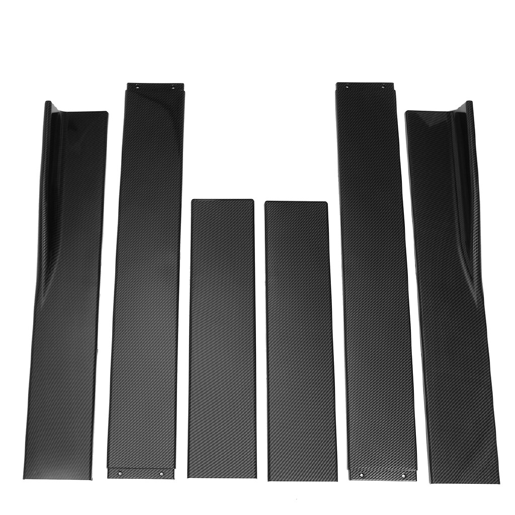 Automotive Tools & Equipment - Carbon Side Skirt Extensions Blades For Mercedes-Benz W203 W204 W205 W212 W176 - Car Replacement Parts