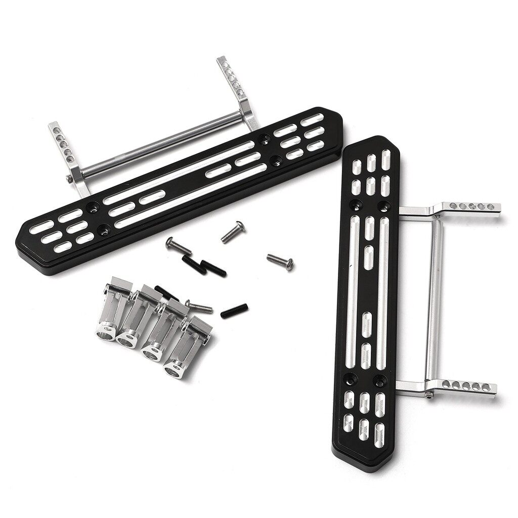 Automotive Tools & Equipment - Aluminum Side Step Plate w/ Rall Mounts SET For AXIAL SCX10 1:10 RC Crawler Car - Car Replacement Parts