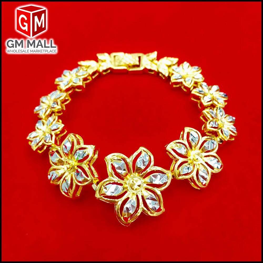 Emas Korea Jewellery - Rantai Tangan FLOWER Gold Plated (Bracelet EK-2007-6)