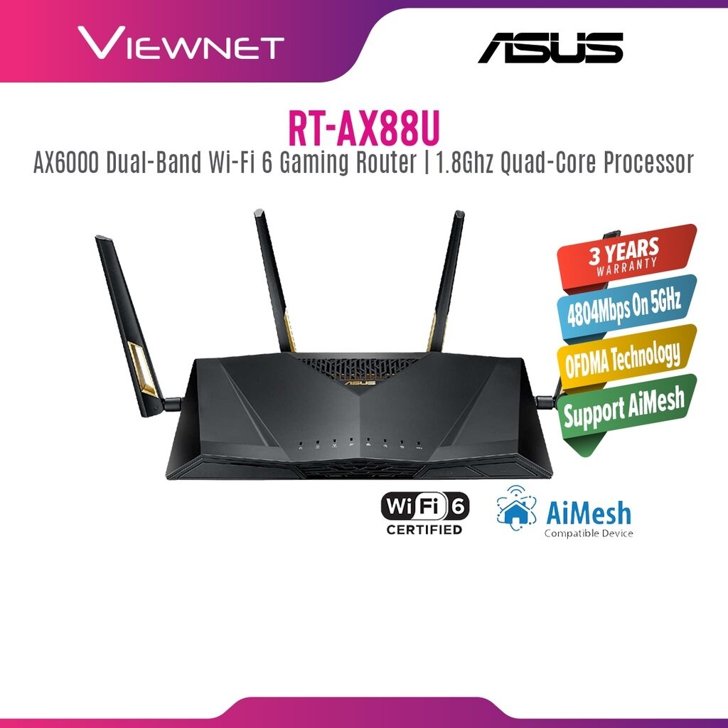 Asus Router RT-AX88U AX6000 Dual Band WiFi 6