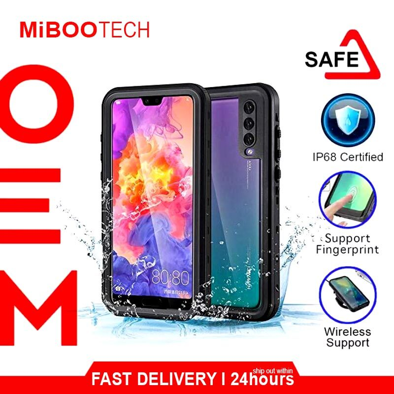 [Miboo] Tcom Huawei P20 l P20 Pro Waterproof Case Rugged Armor Smart Cover Travel Partner - Black-P20 Pro