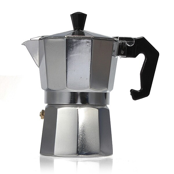 Coffee Machines and Accessories - Aluminum Moka Espresso Latte Percolator Stove Coffee Maker Pot Coffee - 6 CUPS / 3 CUPS