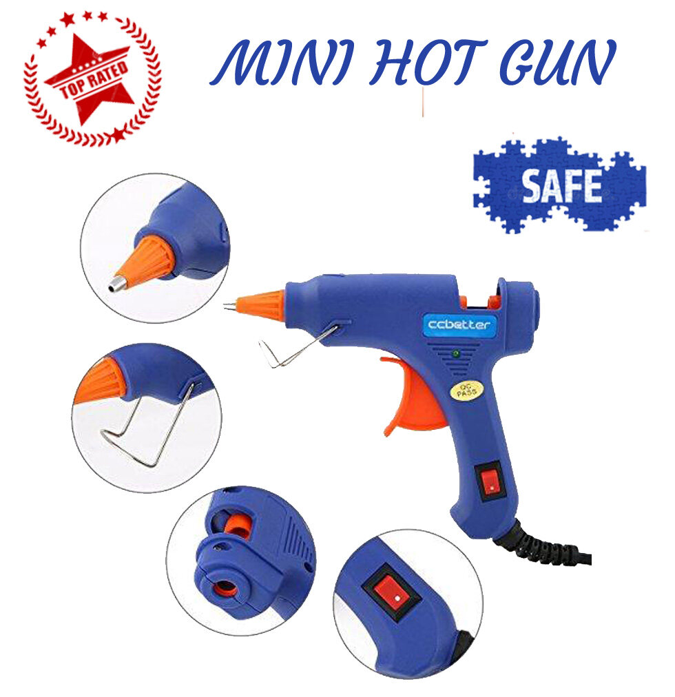 Mini Hot Glue Gun for DIY Small Craft Projects & Package Quick Repairs