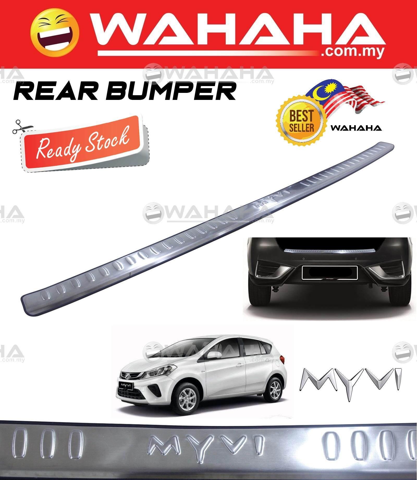 Perodua Myvi 2018 Rear Bumper Guards Alloy Trunk Lid Trim Protector (Chrome)