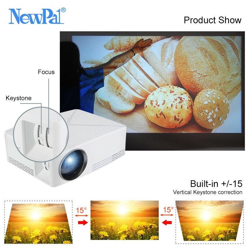 PORTABLE 2800 Lumens C80 LCD LED 3D HD 1080P Theater Projector AV HDMI USB VGA - BLACK / WHITE