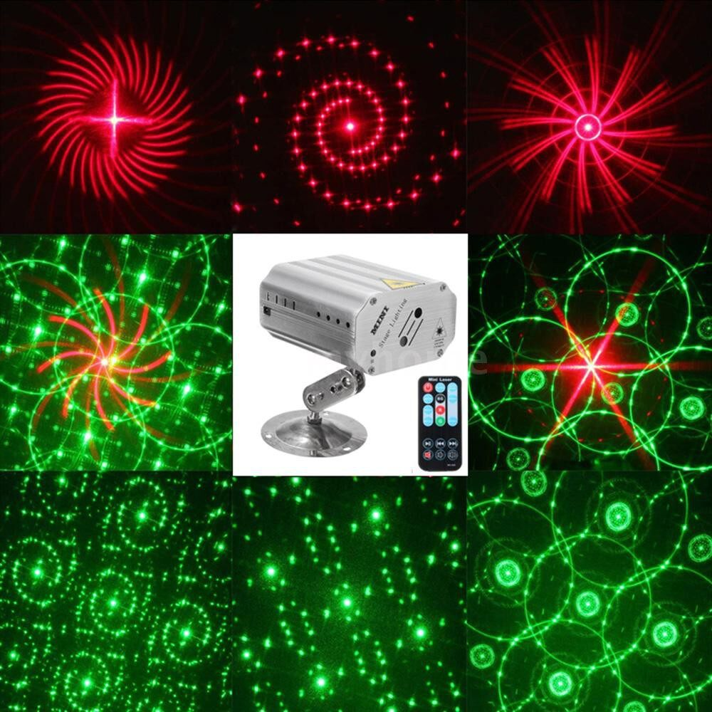 Lighting - AC100-240V 1.15W MINI Laser Stage Light Lighting Fixture Supported Auto-run/ Sound Activated/ - Home & Living