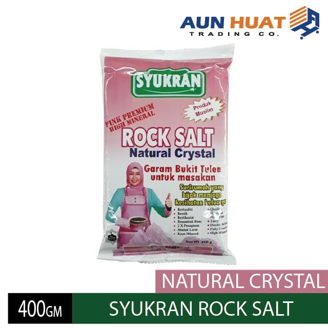SYUKRAN ROCK SALT 400GM NATURAL CRYSTAL