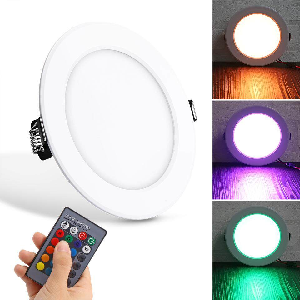 10W RGB Ceiling Lamp 85-265V 7Colors Change Remote Control Downlight