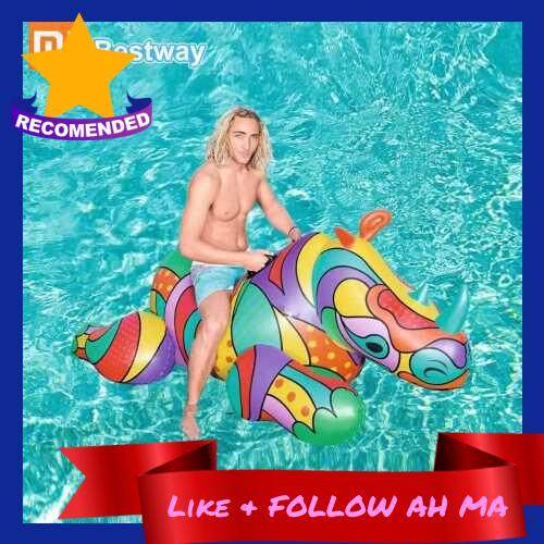 Best Selling Xiaomi Water Play Equipment Summer Sport Inflatable 90KG Load Bestway Bird Rhino Pool Float Handle Animal Air Mat Kid Pool Toy Ride Gift (Color2)