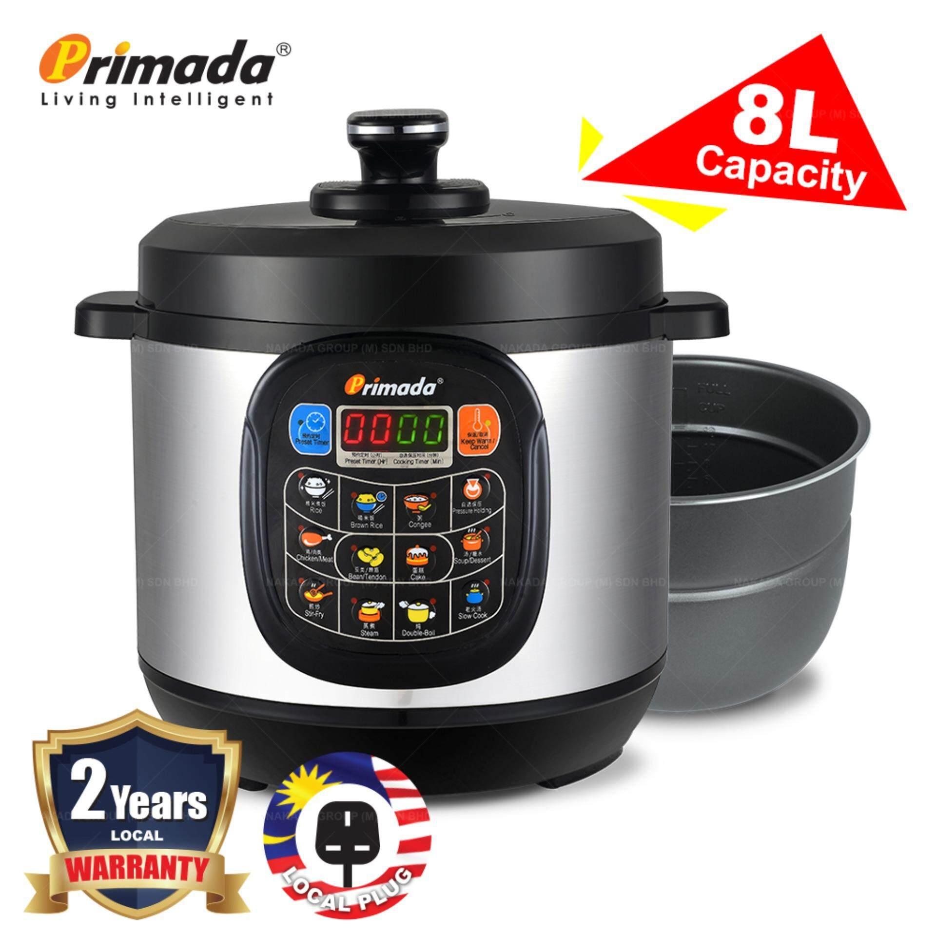 Primada 8 Liter Jumbo Pressure Cooker PC8030 Basic PC8030 Basic