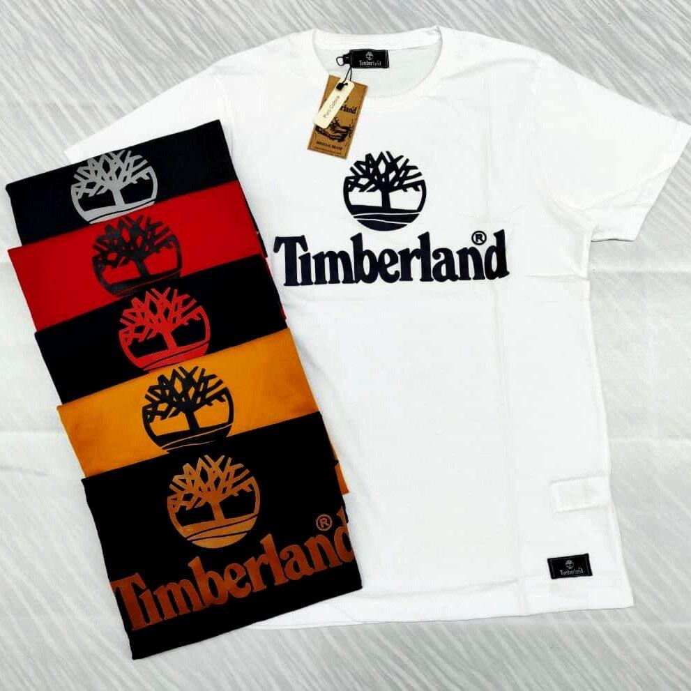 Timberland T-Shirt Round Neck 100% Cotton Unisex