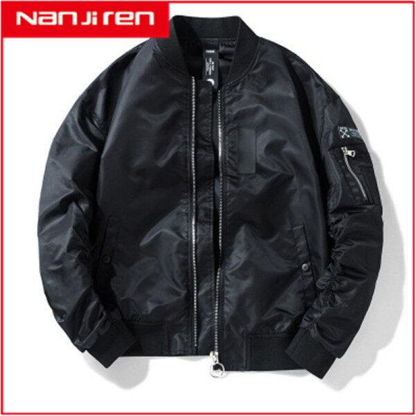Áo khoác bomber dành cho nam kiểu dáng đơn giản nam tính chất liệu dày dặn Nanjiren