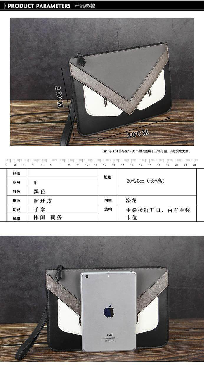[M'sia Warehouse Direct] 2020 Korean Series Men's Leather Handcarry Bag With String Fengshui Clutch Bag Can Fit Iphone Any Android Mobile Long Purse Perfect Gift For Love One Multifunctional Portable Bag Card Holder Dompet Panjang Kulit Halal