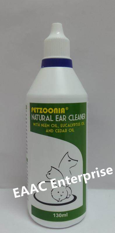 PETZOONIA Natural Ear Cleaner 130ml Pencuci Telinga Pet Kucing