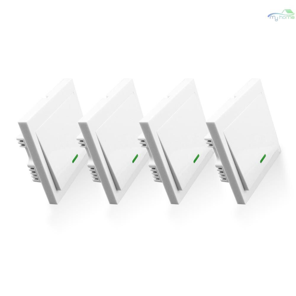 Sensors & Alarms - 5 PIECE(s) Push Button Wall Light Switch Remote Controller 3 Gang 86 Type ON/Off Switch Panel - WHITE-3CH-5 / WHITE-3CH-4 / WHITE-3CH-3 / WHITE-3CH-2 / WHITE-2CH-5 / WHITE-2CH-4 / WHITE-2CH-3 / WHITE-2CH-2 / WHITE-1CH-5 / WHITE-1CH