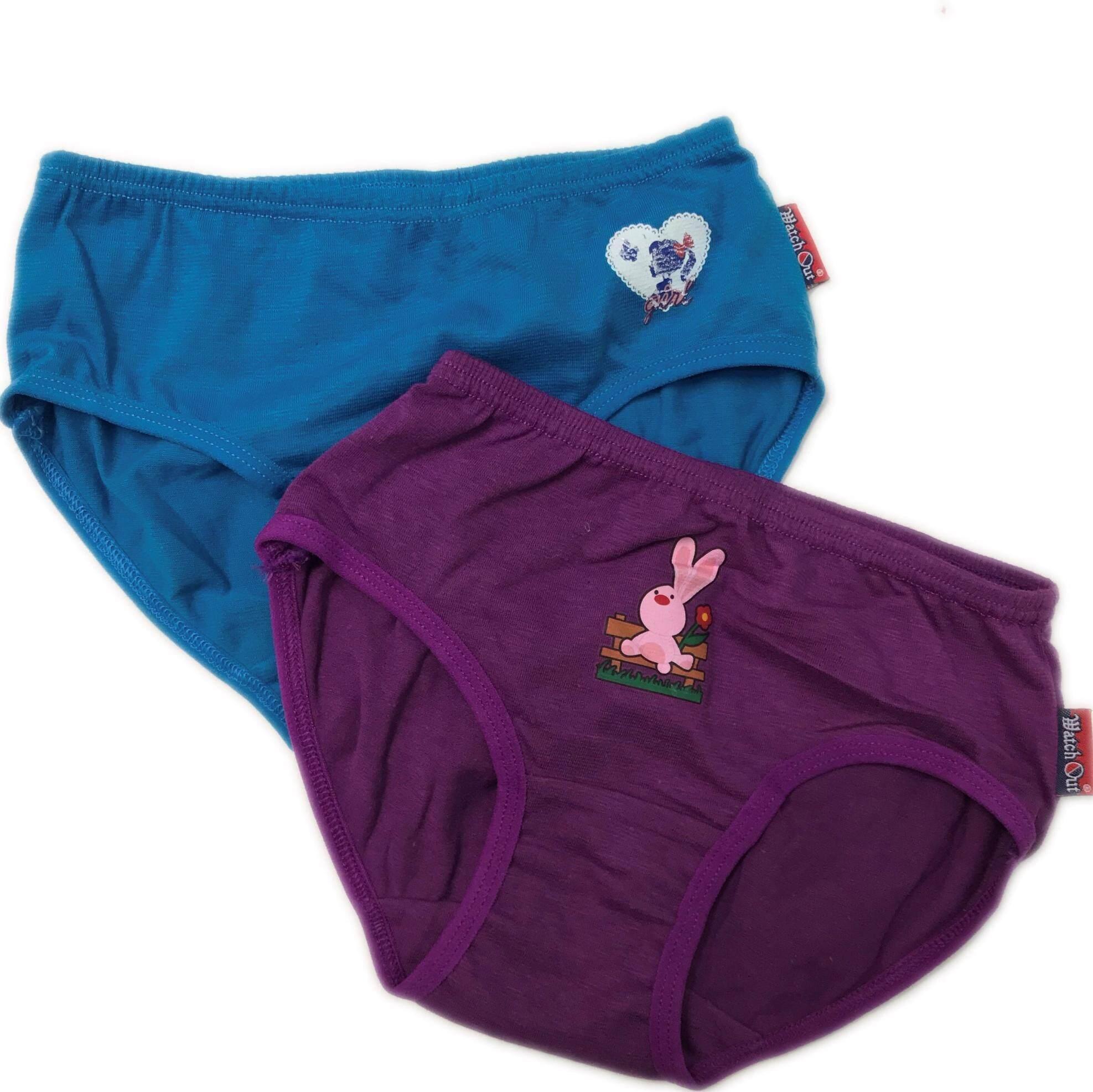 KIDDY KIDS WEAR COTTON UNDERWEAR GIRLS (SELUAR DALAM) SHORTIES BRIEFS PANTIES (RANDOM COLOR) 2PCS/LOT
