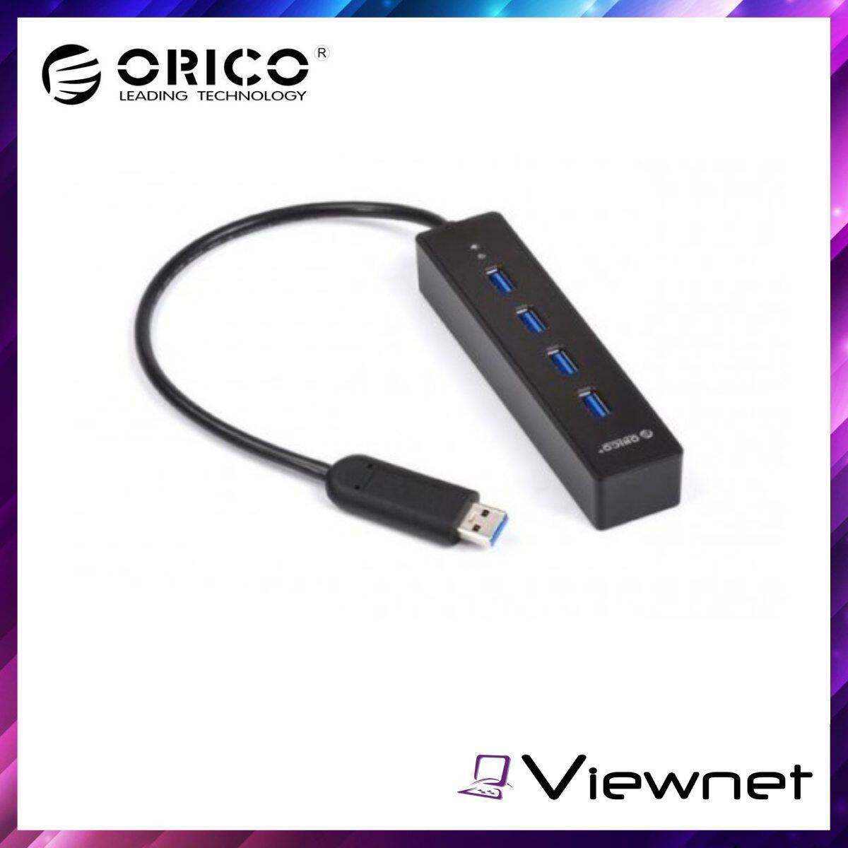 Orico 4-USB3.0 Ultra USB Hub (ORICO-W8PH4), Transfer Speeds up to 5Gbps, Easy installation, Advanced VL812 Controller