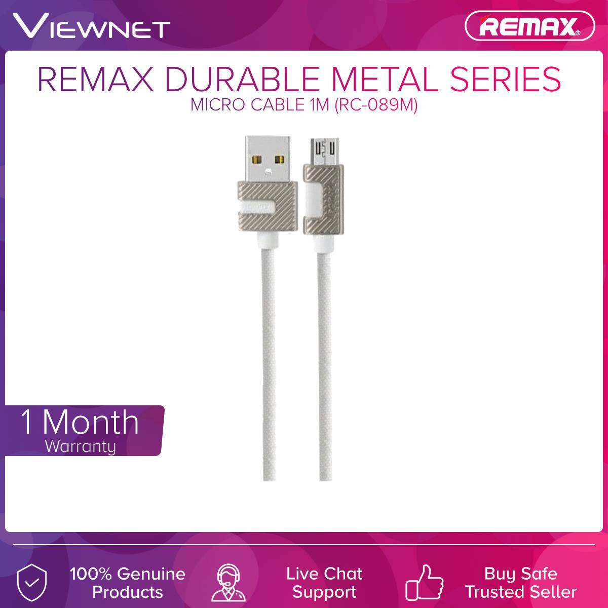 Remax (RC-089M) Durable Metal Series Micro Cable