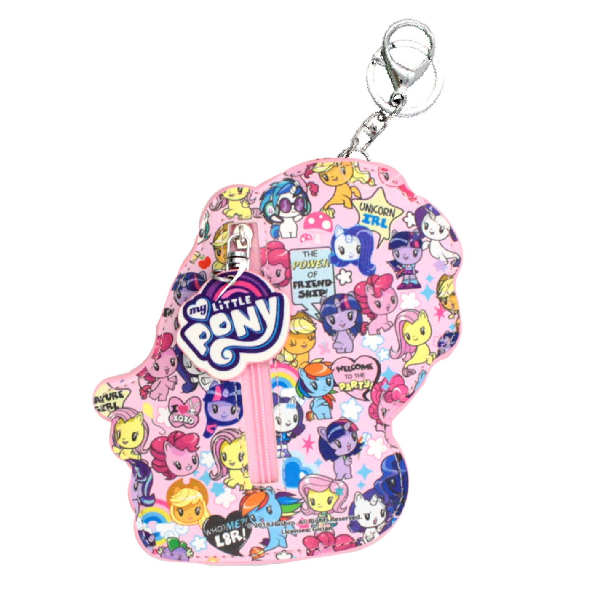 My Little Pony Girls Coin Keychain Cutie Mark Purse - Rainbow Dash
