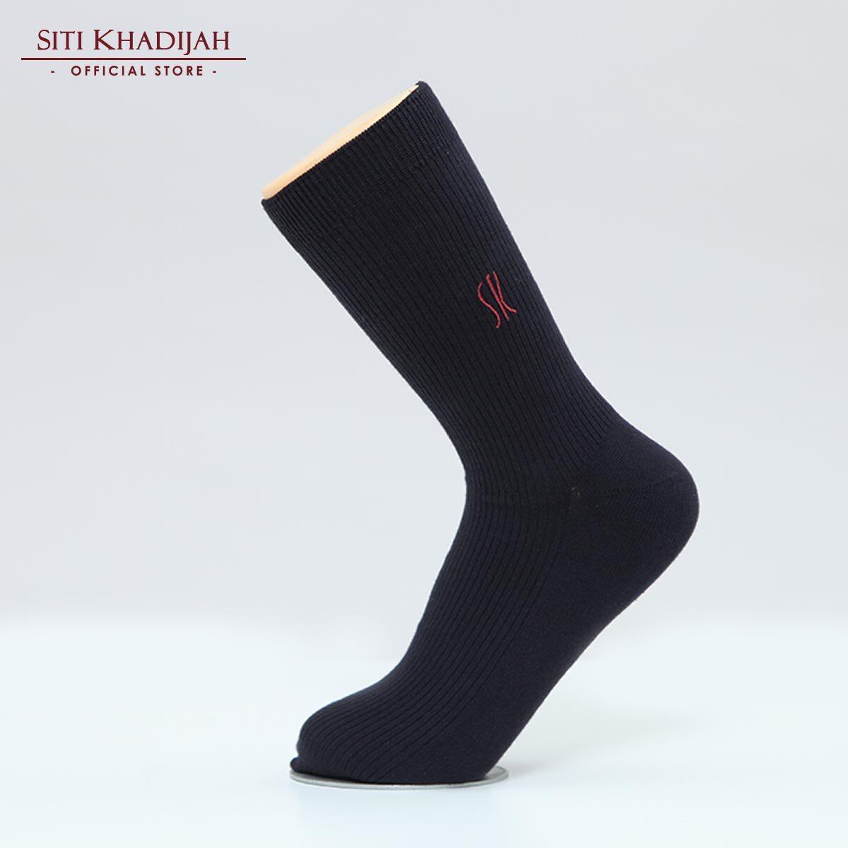 Siti Khadijah - Black Ribbed Socks