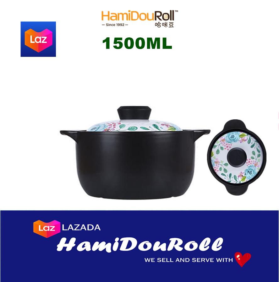 HamiDouRoll ????????(?? WIDE) 1500ML 100% Ceramic Stock Pot (????????) HMD3233-1500Y