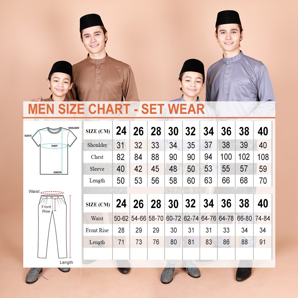 2021 Raya Collection Kids Raahil Size 24-40 Zipper Modern Baju Melayu Kurta Set Muslimin Fashion BEST SELLER