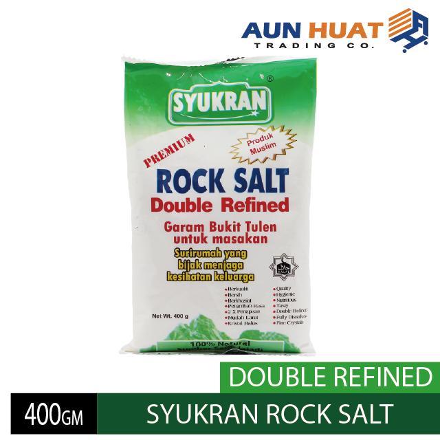 SYUKRAN ROCK SALT 400GM DOUBLEREFINED