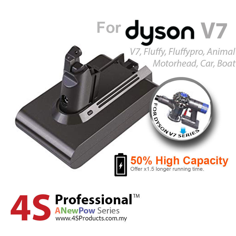 Dyson V7 Lithium Battery Replacement High Capacity 3000mAH