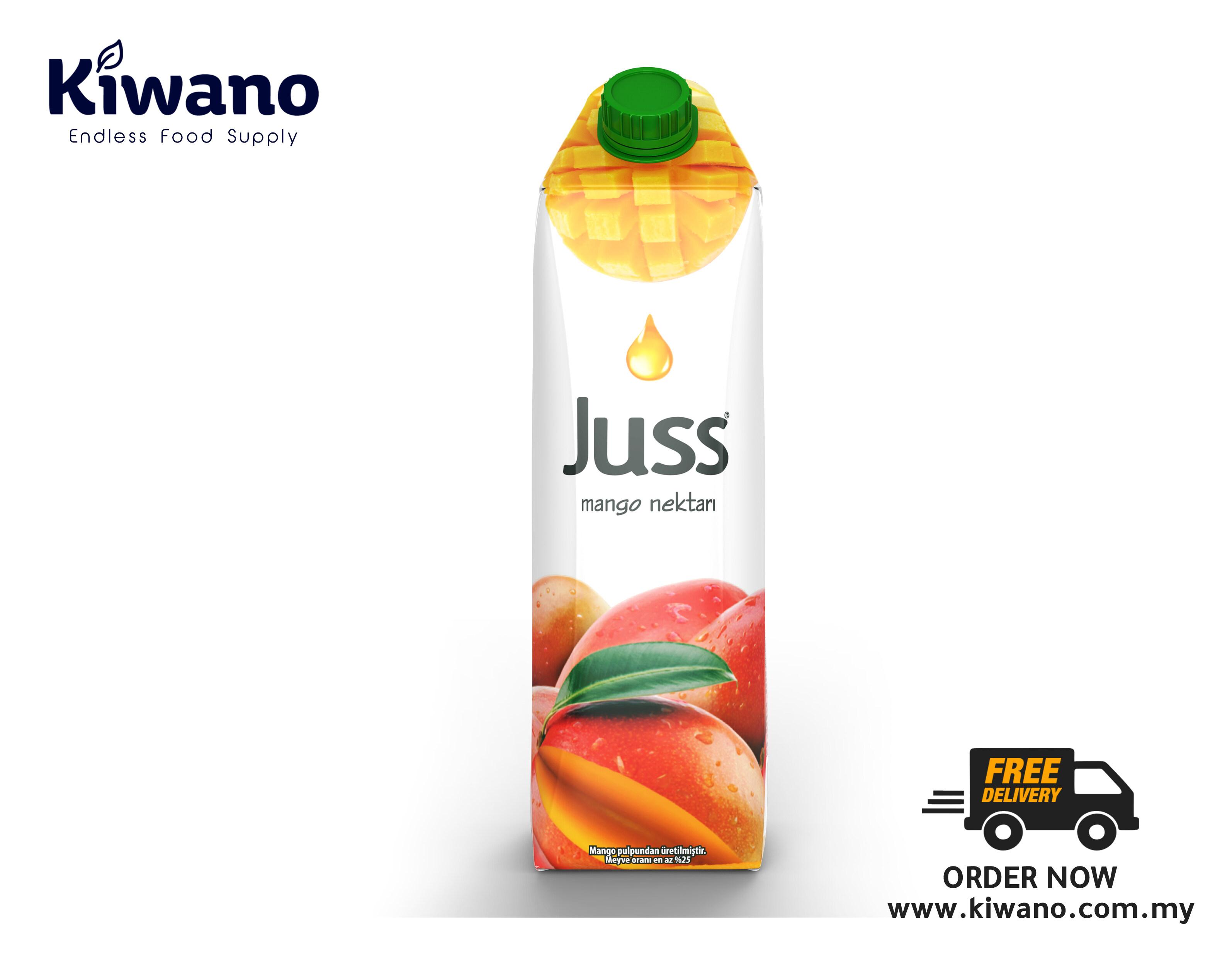 JUSS Fruit Drink Mango (12 X 1L)