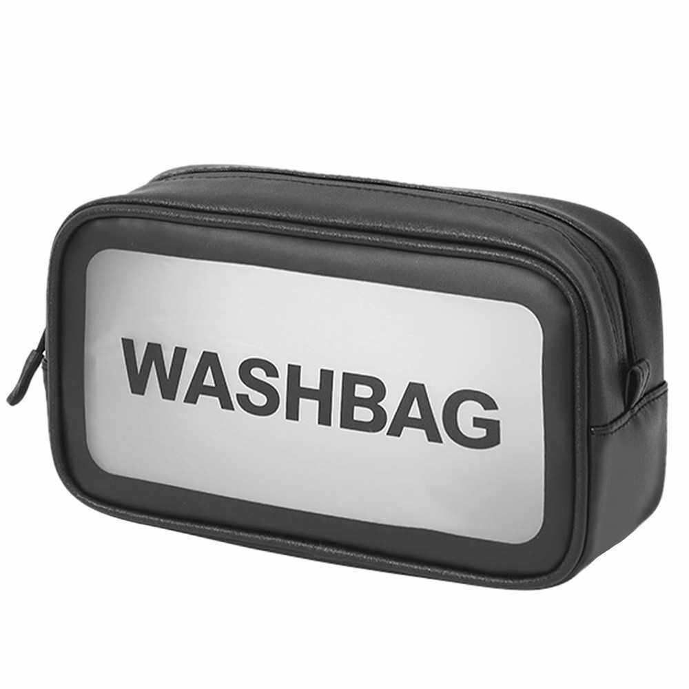 Waterproof Bathroom Toiletry Bag Travel Cosmetic Makeup Bag Storage Pouch for Men and Women (Black)