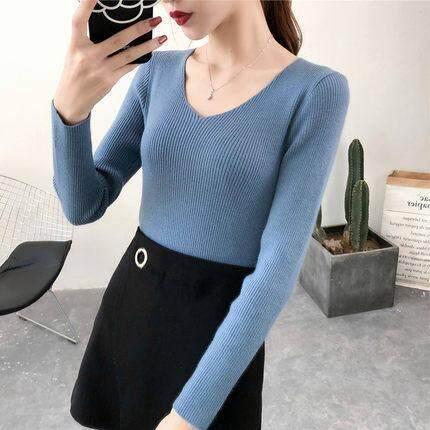(Pre Order14 Days JYS Fashion Korean Style Women Knit TopCollection526-2543col525a-2543--Blue -M