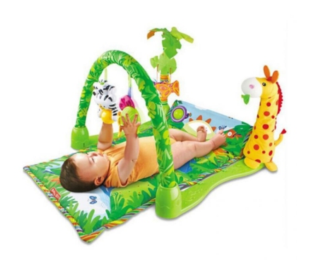 Baby Infant Rhythm Colourful Lights Play Gym Music Sound Jungle Animals Linkable Toys Soft Mat - Hello Bobo SKN