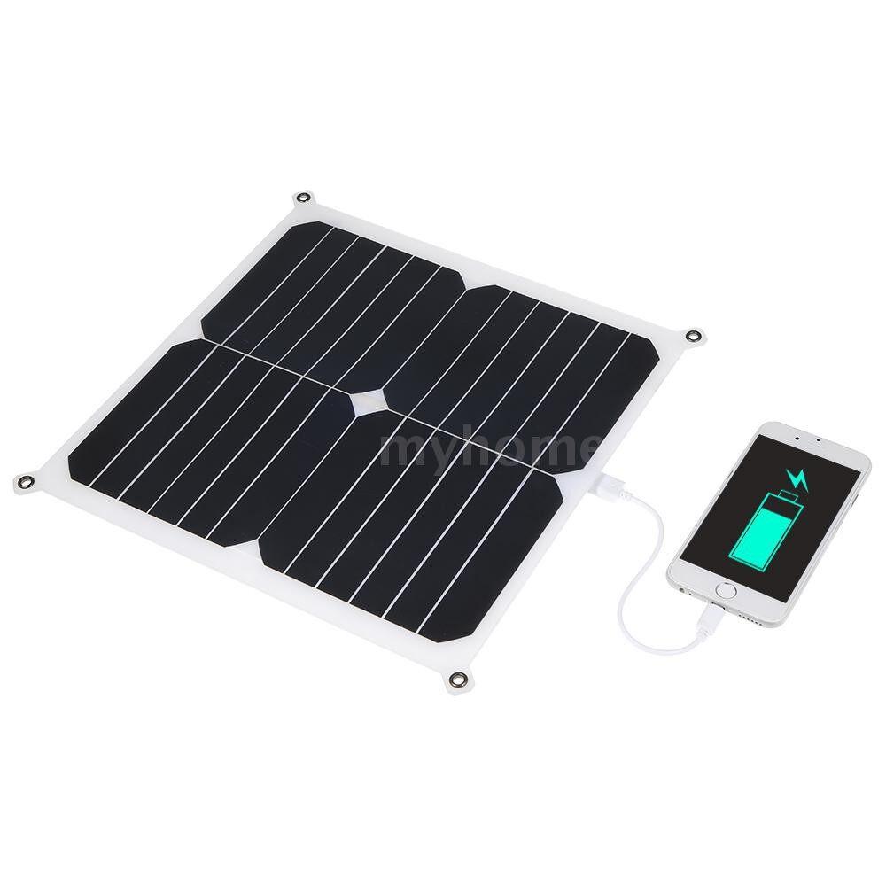 Lighting - DC6V 14W IP66 Water Resistance Slim Design Solar Power Energy Panel Pad PORTABLE Outdoor - WHITE