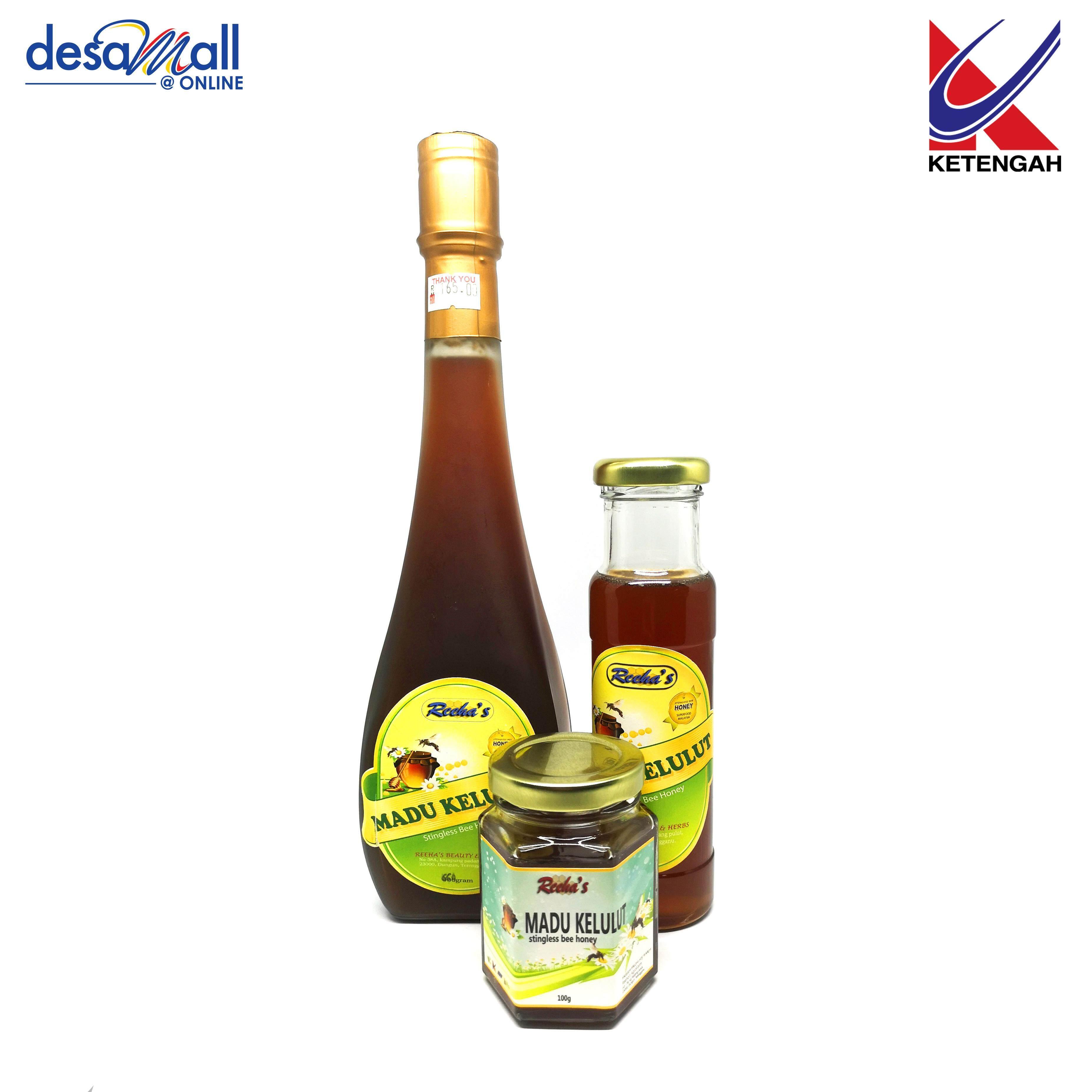 Combo Reeha\'s Madu Kelulut Stingless Bee Honey RTD Kualiti Premium (100g,200g, 500g)