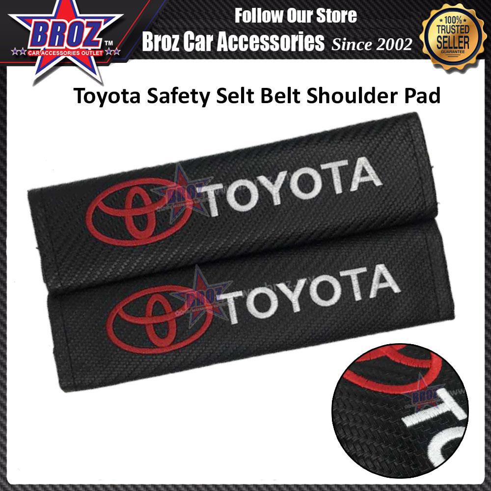 Broz 2Pcs/Set Universal Carbon Fibre Seat belt Shoulder Pads