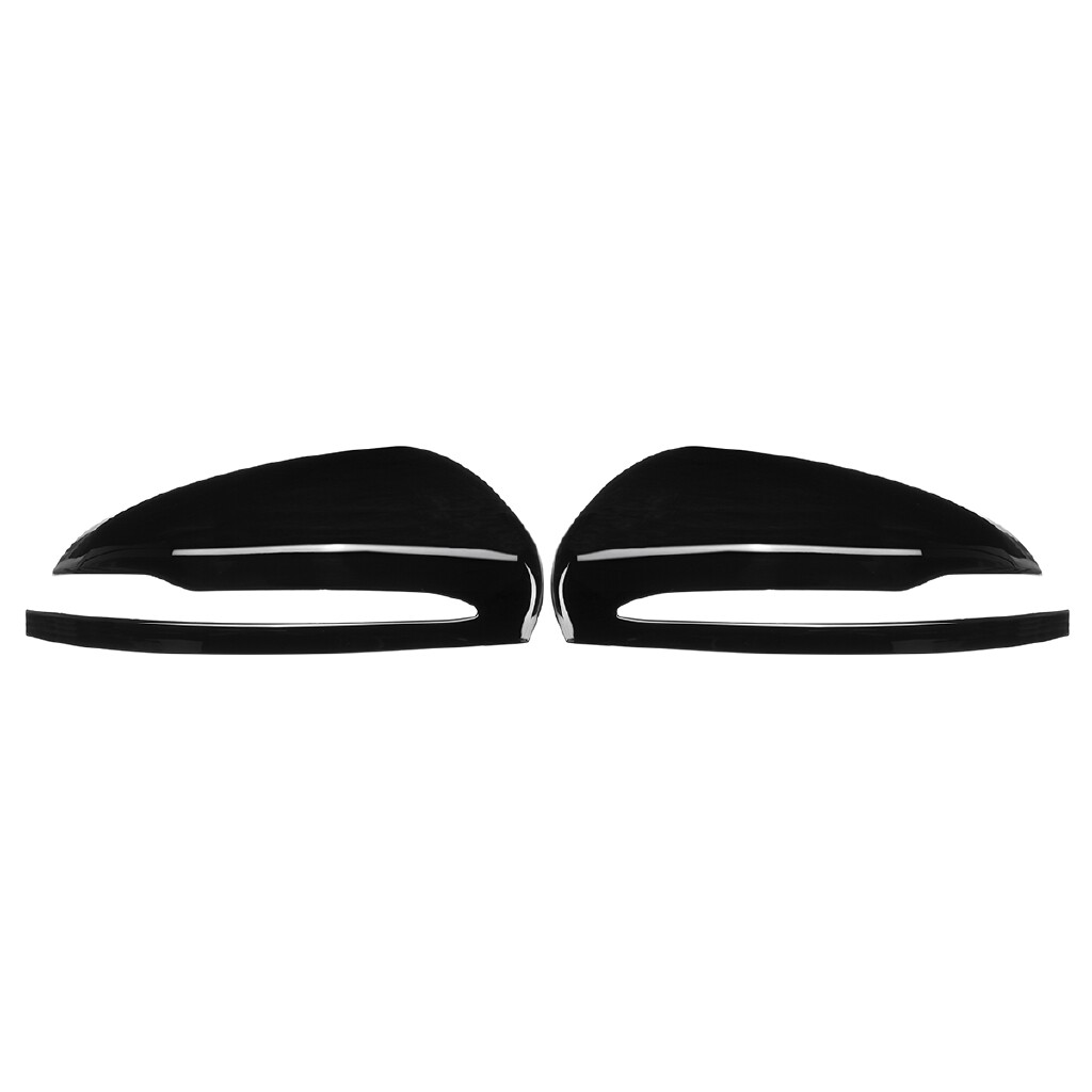 Exterior Car Care - Pair Side Wing Mirror Cover Caps For Benz W205 X253 W213 W222 Glossy Black