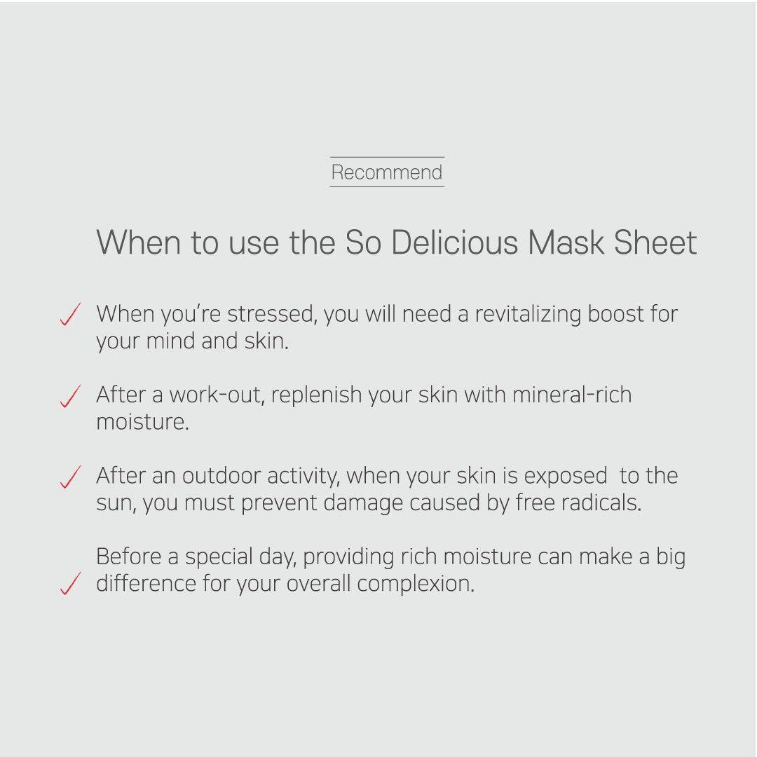 SOLEAF 3x25g So Delicious Aloe Mask Sheet Gentle Mild Moisturizing Calming Hydrating Aloe Vera Face Mask Korean Skincare Beauty Local Warehouse Ready Stock Original