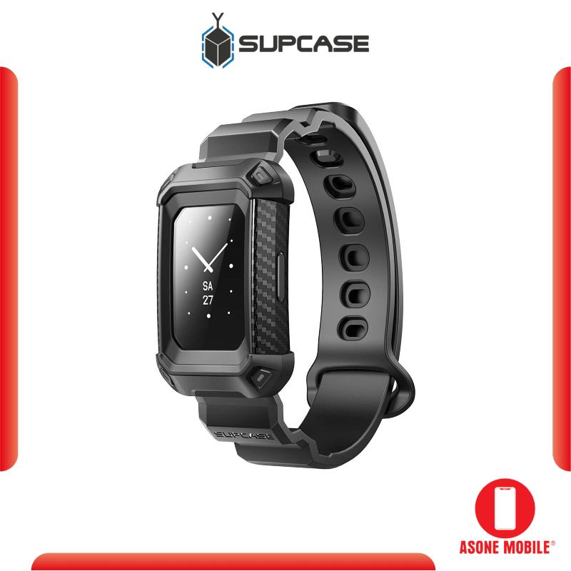 Original SUPCASE Fitbit Charge 3 Unicorn Beetle Pro Rugged Shockproof Wristband Case - Black